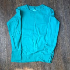 Teal sweatshirt
